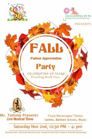 Patient Appreciation Sweepstakes at Julia Barriga M.D., P.A Pediatric Clinic in Tampa, FL